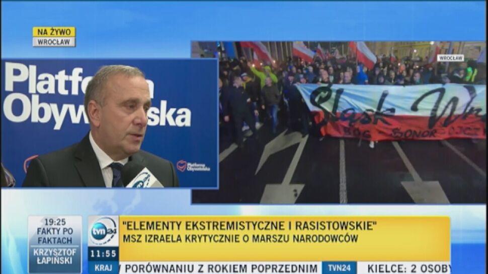 Schetyna do Szydło i Kaczyńskiego: Dość! Zdelegalizować organizatorów