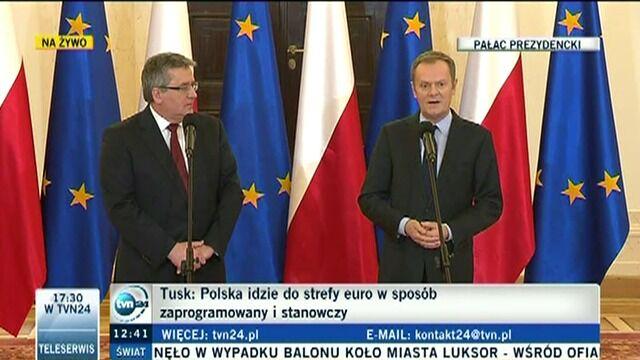 Premier: W 2015 r. Polska będzie przygotowana do wejścia do strefy euro