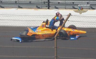 Wypadek Alonso podczas drugiego treningu przed Indianapolis 500