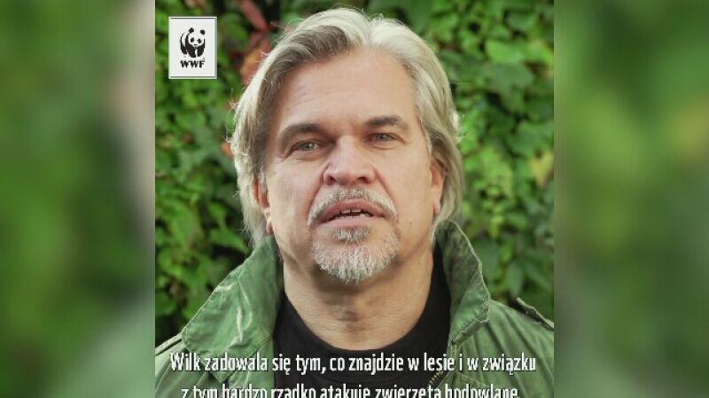 Jarosław Boberek w kampanii WWF Chrońmy Wilka