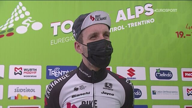 Simon Yates po wygraniu całego Tour of the Alps