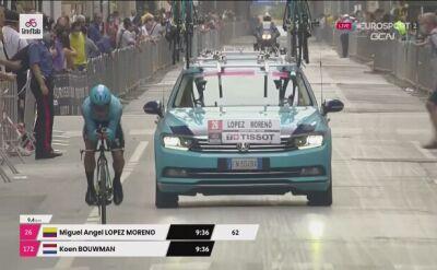 Wypadek Miguela Angela Lopeza na 1. etapie Giro d'Italia