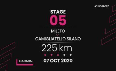 Giro d'Italia - profil 5. etapu: Mileto - Camigliatello Silano