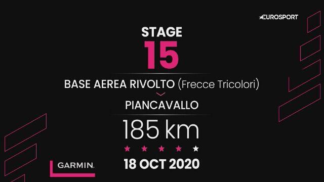 Giro d'Italia - profil 15. etapu: Base Aerea Rivolto - Piancavallo