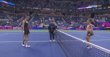 Skrót meczu Pliskova - Sakkari w ćwierćfinale US Open