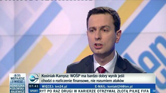 """Minister broni WOŚP. """"Nie siejmy nienawiści"""""""