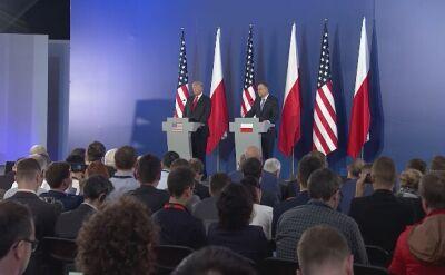 Duda: mam poczucie, że Stany Zjednoczone myślą bardzo poważnie o bezpieczeństwie Polski