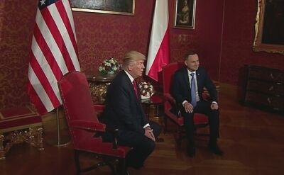 Rozpoczęło się spotkanie Trumpa i Dudy