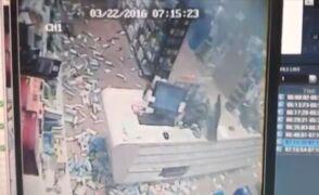 Moment, w którym wybuchła bomba. Zdjęcia z monitoringu