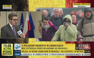 Polacy wśród rannych w Brukseli