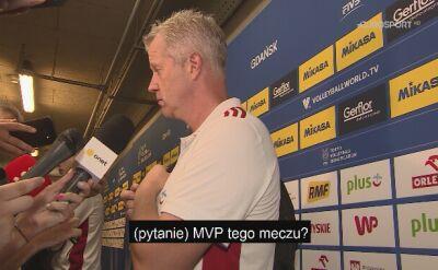 Vital Heynen po zwycięstwie z Francją