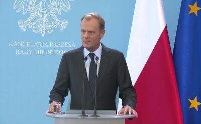 Tusk: Mamy do czynienia z aktem terroru