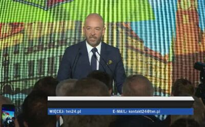 Jacek Sutryk po ogłoszeniu wstępnych sondażowych wyników wyborów