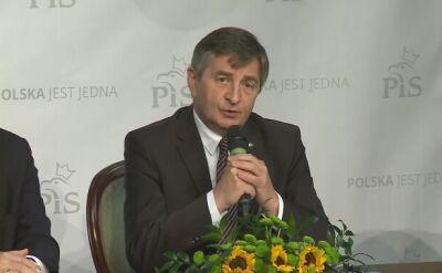 Wystąpienie marszałka Sejmu wielokrotnie przerywali okrzykami przeciwnicy rządu