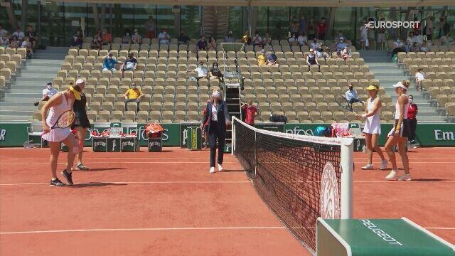 Skrót ćwierćfinału Roland Garros Linette/Pera - Rybakina/Pawluczenkowa