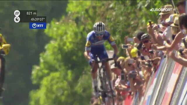 Finisz 3. etapu Tour de France. Triumf Alaphilippe'a, czwarty Van Avermaet
