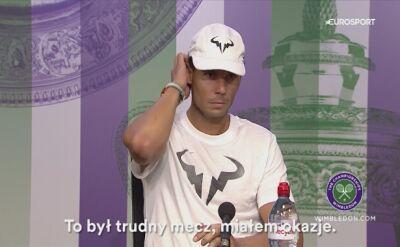 Rafael Nadal: Rozegrałem świetny turniej