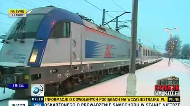 Pociąg relacji Kraków-Warszawa zatrzymał się na stacji w Batowicach