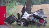 Nieletni nie zapanował nad samochodem i uderzył w drzewo