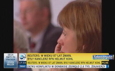"""""""Kohla nazywa się ojcem niemieckiego zjednoczenia"""""""