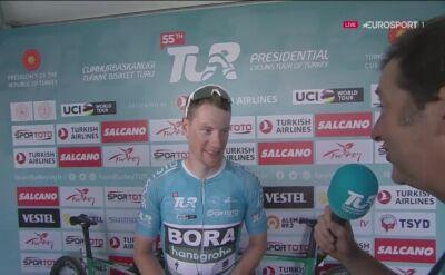 Sam Bennett po wygraniu 2. etapu Tour of Turkey
