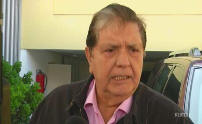Reuters: były prezydent Peru próbował się zabić w trakcie aresztowania