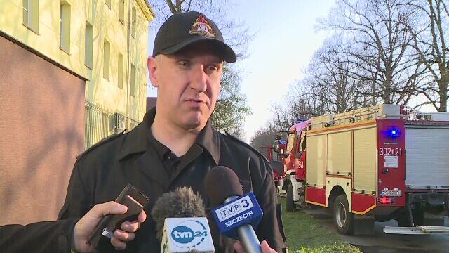 Straż pożarna w Szczecinie o śmiertelnym wypadku