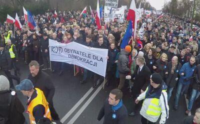 Politycy opozycji na czele marszu