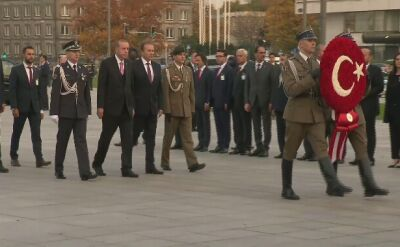 Prezydent Erdogan złożył wieniec przy Grobie Nieznanego Żołnierza