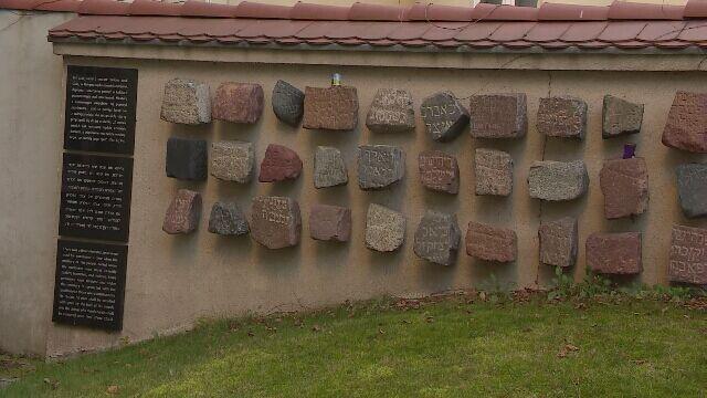 Lapidarium przy ulicy Głogowskiej. Trafiły tu macewy z całego Poznania