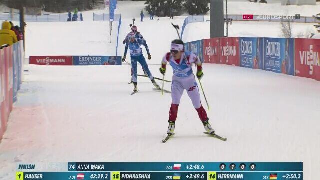 Świetny występ Anny Mąki i pierwsze punkty w biathlonowym PŚ