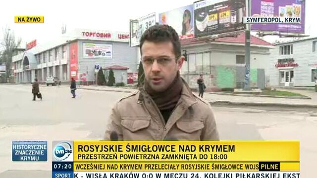 Reporter TVN24 na Krymie: spokojniej niż wczoraj