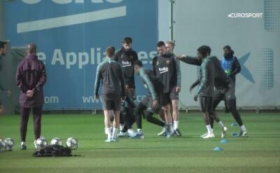 Piłkarze Barcelony w świetnych humorach przed starciem z Borussią Dortmund
