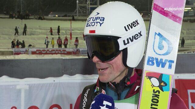 Piotr Żyła po kwalifikacjach w Ruce