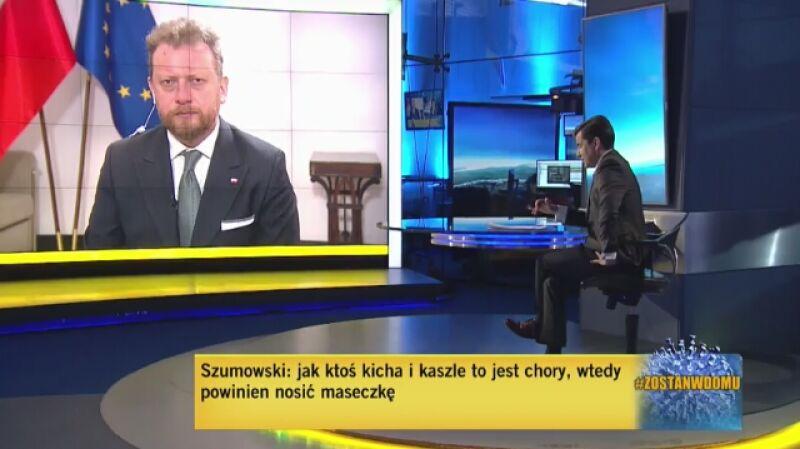 Minister zdrowia Łukasz Szumowski o testach na koronawirusa