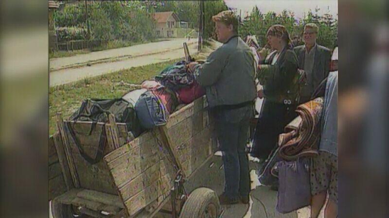 Chorwaccy uchodźcy w czasie wojny w byłej Jugosławii