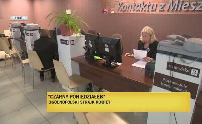 """""""Czarny poniedziałek"""" w Łodzi"""