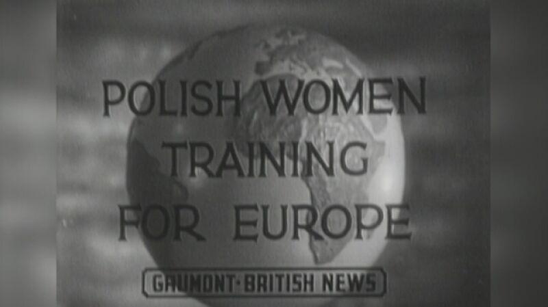 Polskie kobiece oddziały w Wielkiej Brytanii. Kronika filmowa z 14 października 1943 roku