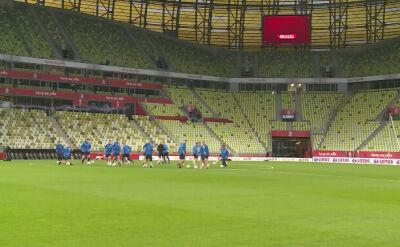 Trening reprezentacji Finlandii przed meczem z Polską