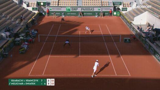 Kapitalna wymiana w półfinałowym meczu debla kobiet w Roland Garros