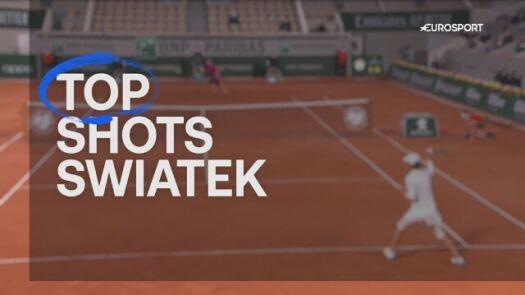 Top 5 zagrań Igi Świątek w drodze do finału turnieju French Open