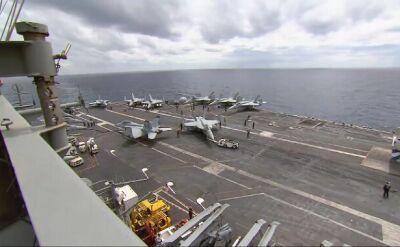 Na pokładzie lotniskowca USS Abraham Lincoln
