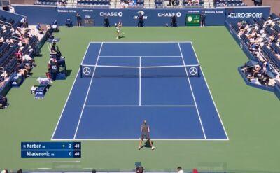 Skrót meczu Mladenovic - Kerber w 1. rundzie US Open