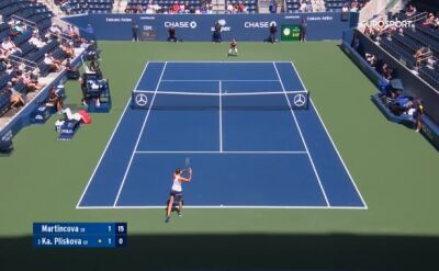 Skrót meczu Martincova - Pliskova w 1. rundzie US Open