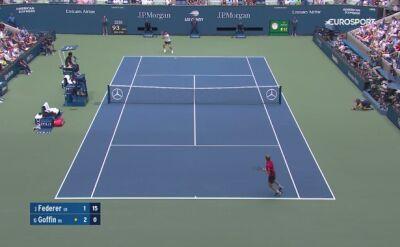 Skrót meczu Federer - Goffin