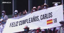 Urodzinowy tort Alcaraza po meczu z Nadalem w Madrycie