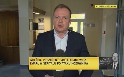 Nożownik usłyszał zarzut zabójstwa prezydenta Gdańska