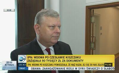 Komentarze polityków w sprawie dokumentów IPN