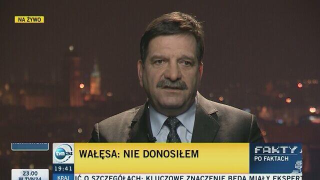 """Janusz Śniadek w """"Faktach po Faktach"""" mówił o dokumentach znalezionych w domu gen. Kiszczaka"""