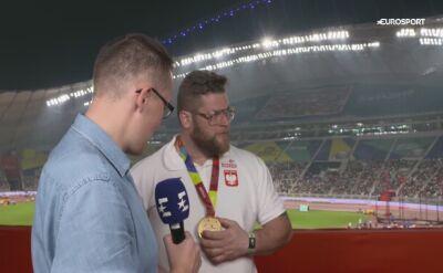 Fajdek po odebraniu medalu: Moje rzuty były koszmarne